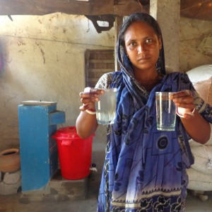 Anjoli now has safe drinking water access inside her home!